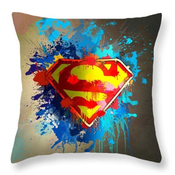 Smallville Throw Pillow by Anthony Mwangi