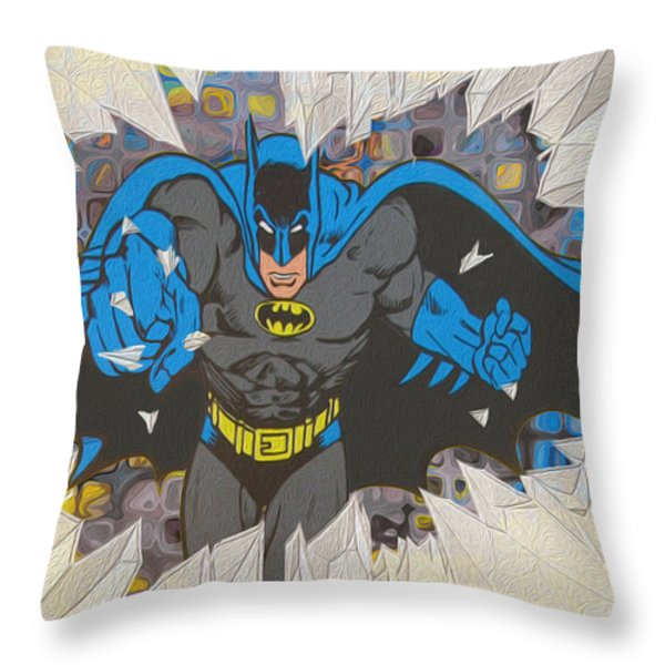 Smash Throw Pillow by Jack Zulli