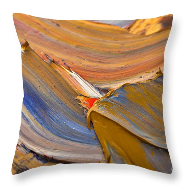 Smeared Paint Throw Pillow by Louise Heusinkveld