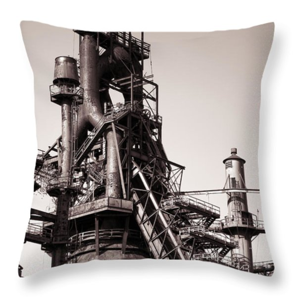 Smelting Furnace Throw Pillow by Olivier Le Queinec