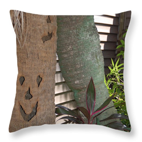 Smiley Tree Throw Pillow by Aimee L Maher Photography and Art