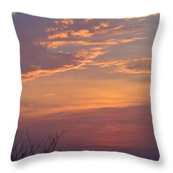 Smooth Sunset Throw Pillow by Leticia Latocki