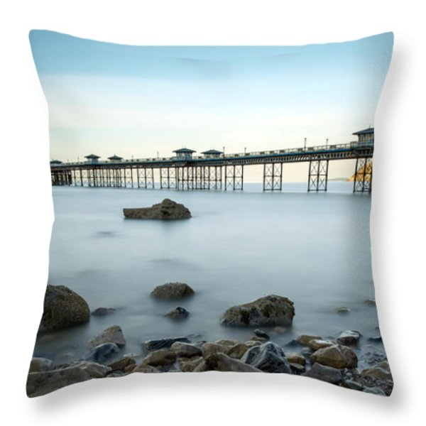 Smooth Waters Throw Pillow by Adrian Evans