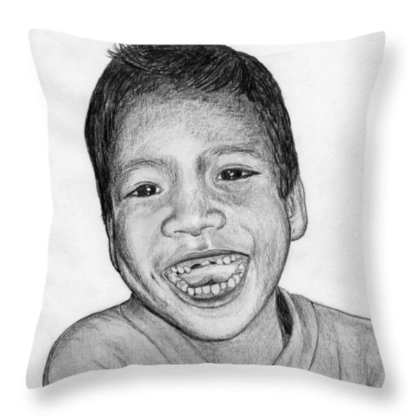Snaggle-tooth Throw Pillow by Lew Davis