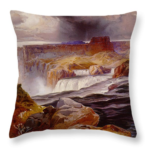 Snake River Idaho 1876 Throw Pillow by Unknown
