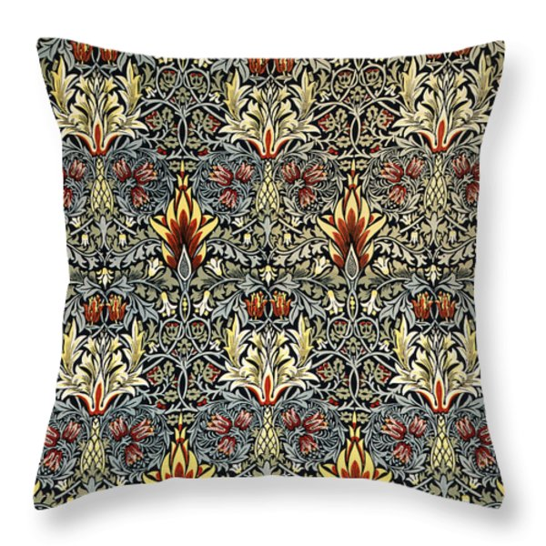 Snakeshead Throw Pillow by William Morris