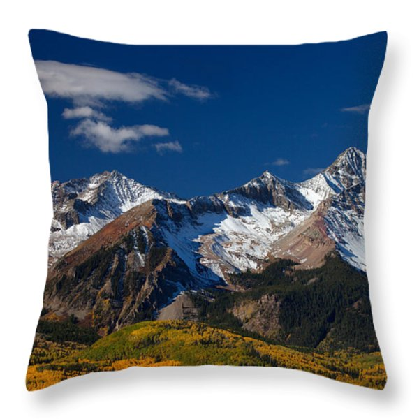 Sneffels Clearing  Throw Pillow by Darren  White