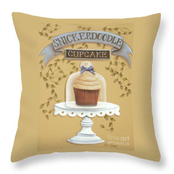 Snickerdoodle Cupcake Throw Pillow by Catherine Holman