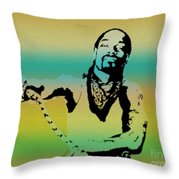Snoop Throw Pillow by Cheryl Young