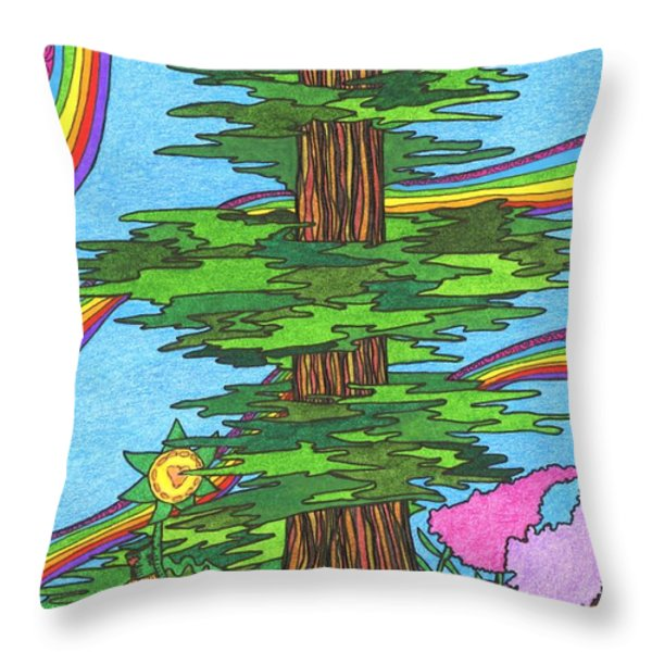 Snooze Throw Pillow by Mag Pringle Gire