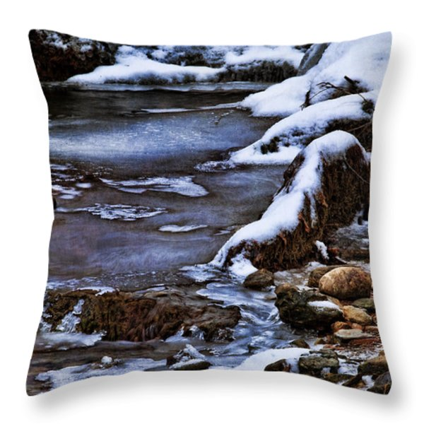 Snow And Ice Water And Rock Throw Pillow by Dale Kincaid