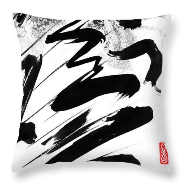 Snow-Clad Mountain Throw Pillow by Hakon Soreide