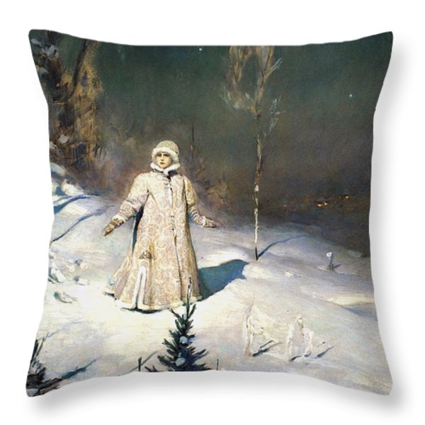 Snow Maiden 1899 By Vasnetsov Throw Pillow by Movie Poster Prints