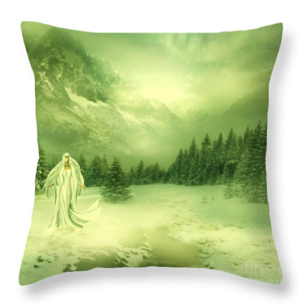 Snow Queen Throw Pillow by Ester  Rogers