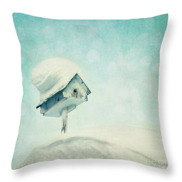 snowbird's home Throw Pillow by Priska Wettstein