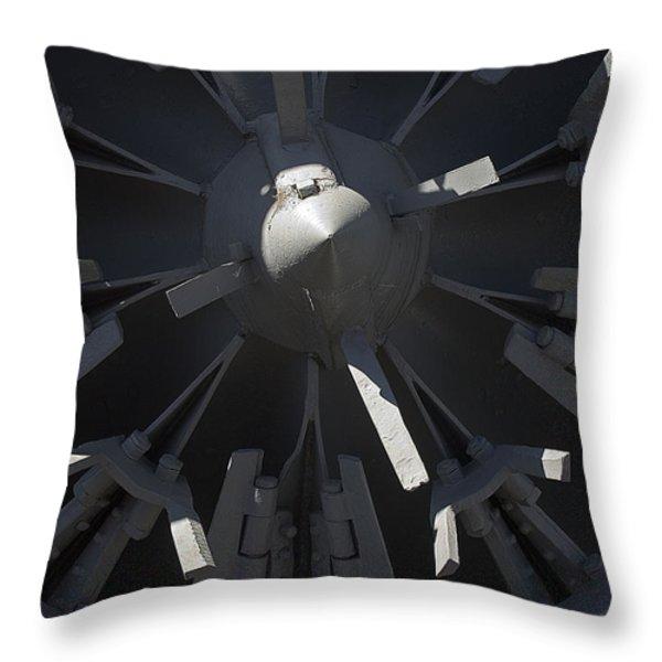 Snowblower Throw Pillow by Steven Ralser