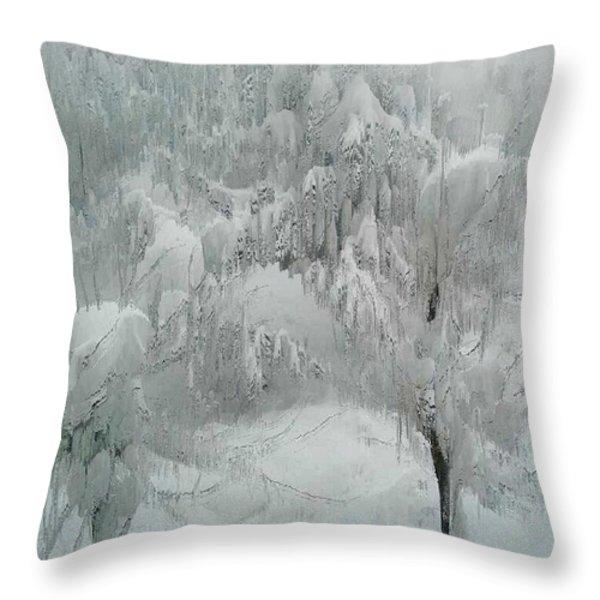 Snowland Throw Pillow by Kume Bryant