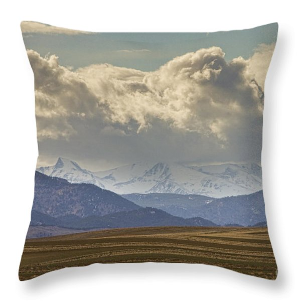 Snowy Rocky Mountains County View Throw Pillow by James BO  Insogna