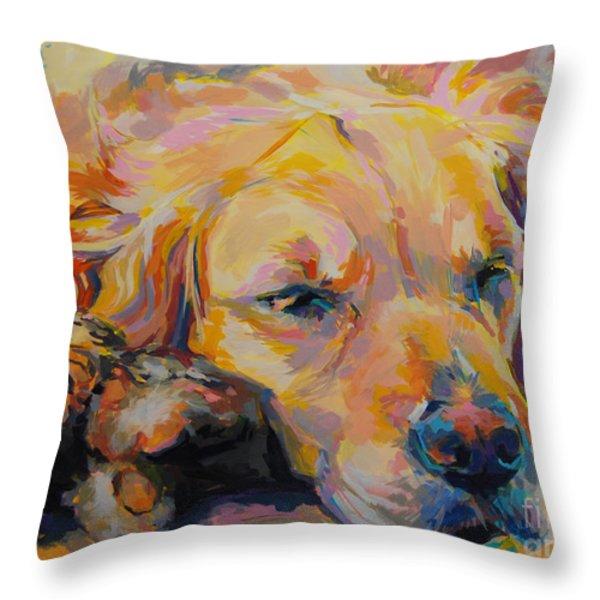 Snuggle Bunny Throw Pillow by Kimberly Santini