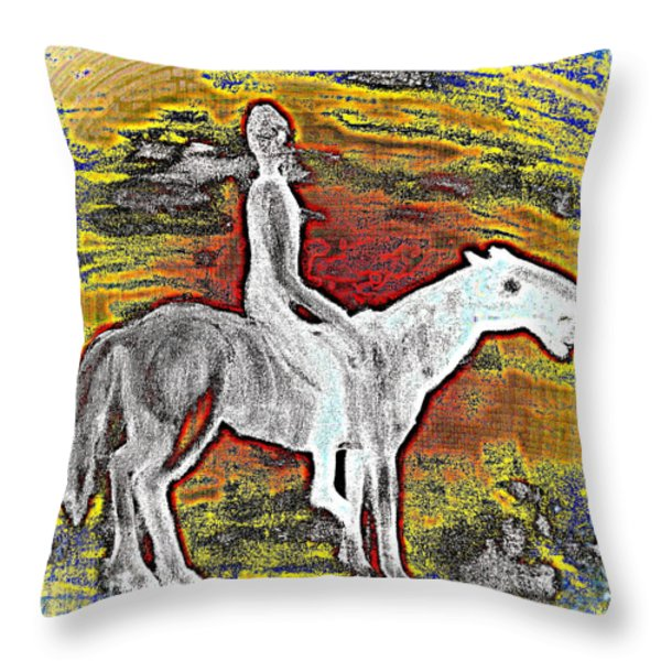 so far away Throw Pillow by Hilde Widerberg
