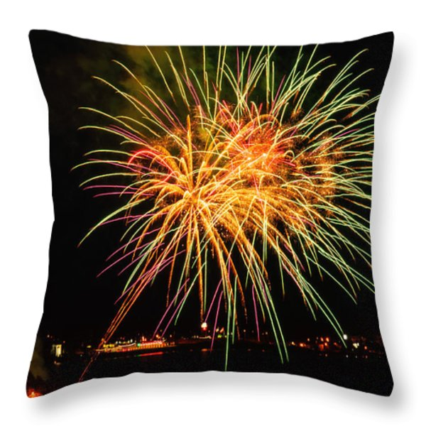 So many colours Throw Pillow by Sabine Edrissi