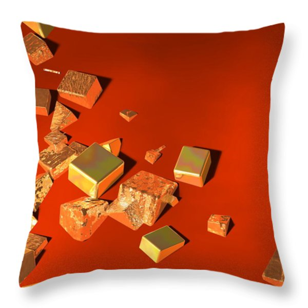 So Shiny Throw Pillow by Andreas Thust