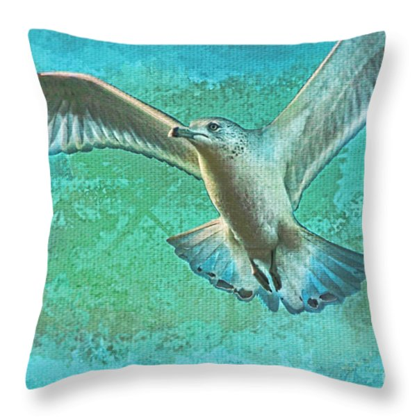 Soaring On Lifes Air Drafts Throw Pillow by Deborah Benoit