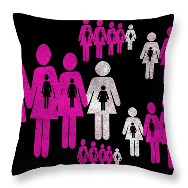 Social responsibility 1 Part 2 Throw Pillow by Angelina Vick