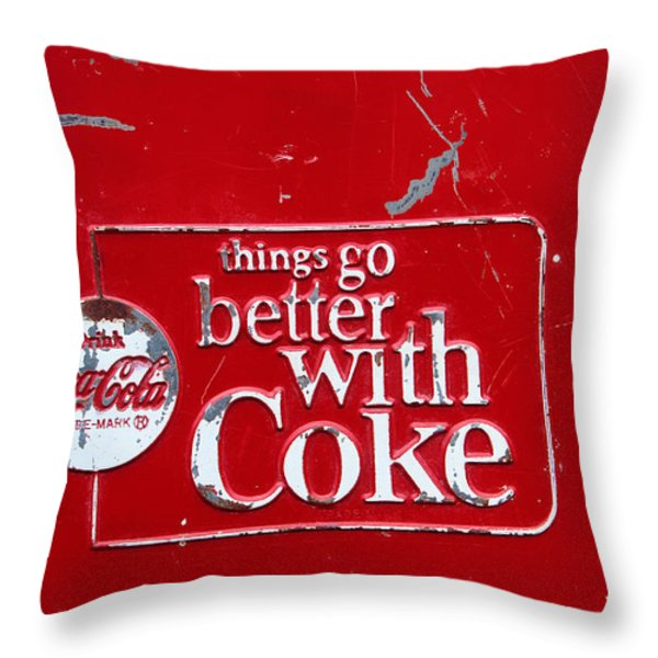 Soda Of Choice Throw Pillow by Toni Hopper