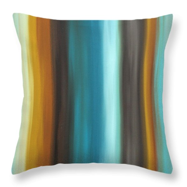 Soft Chocolate By Madart Throw Pillow by Megan Duncanson