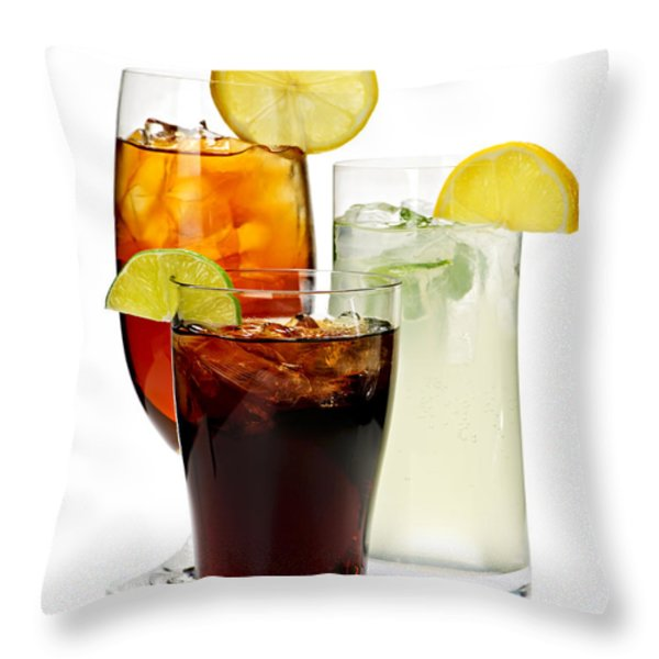 Soft drinks Throw Pillow by Elena Elisseeva