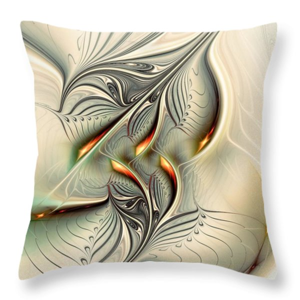 Soft Glow Throw Pillow by Anastasiya Malakhova
