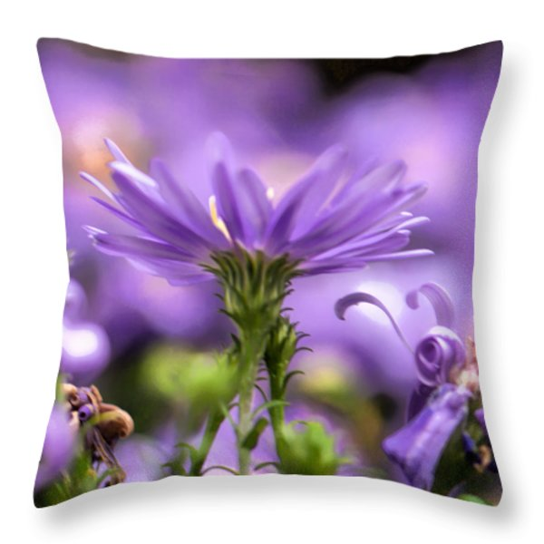Soft lilac Throw Pillow by Leif Sohlman