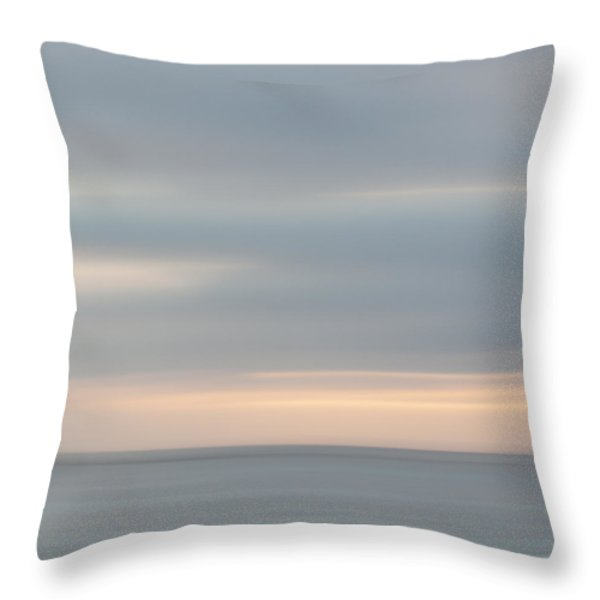 Soft Sunset La Jolla Throw Pillow by Carol Leigh