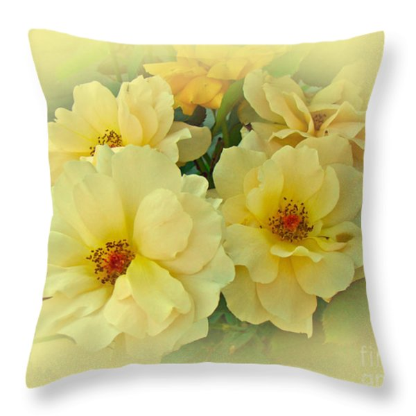 Softly And Sweetly Throw Pillow by Mother Nature