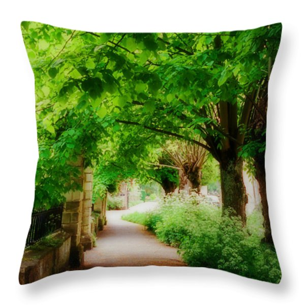 Softly Dreaming Throw Pillow by Marilyn Wilson