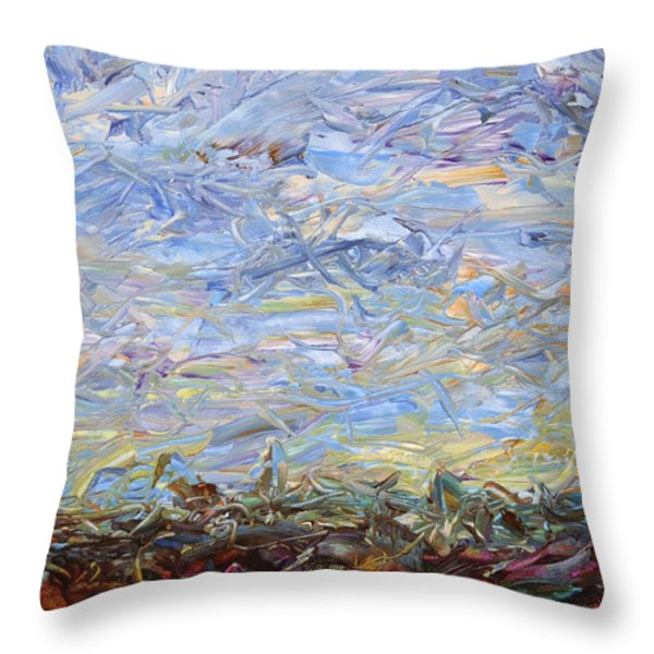 Soil Tumoil 2 Throw Pillow by James W Johnson
