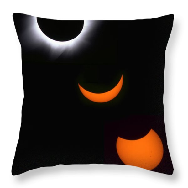 Solar Eclipse Sequence Throw Pillow by Francois Gohier