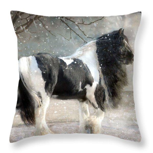 Solitary Throw Pillow by Fran J Scott