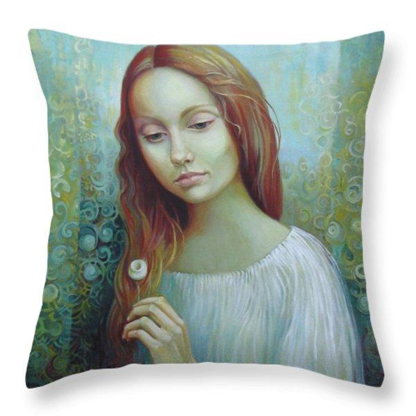 Solitude Throw Pillow by Elena Oleniuc