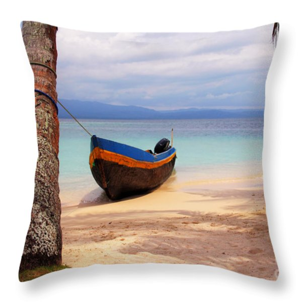 Solo Throw Pillow by Bob Hislop
