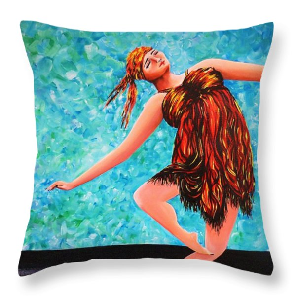 Solo Performance Throw Pillow by Kaye Miller-Dewing