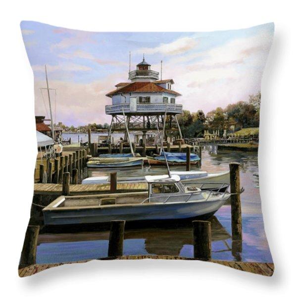Solomon's Island Throw Pillow by Guido Borelli