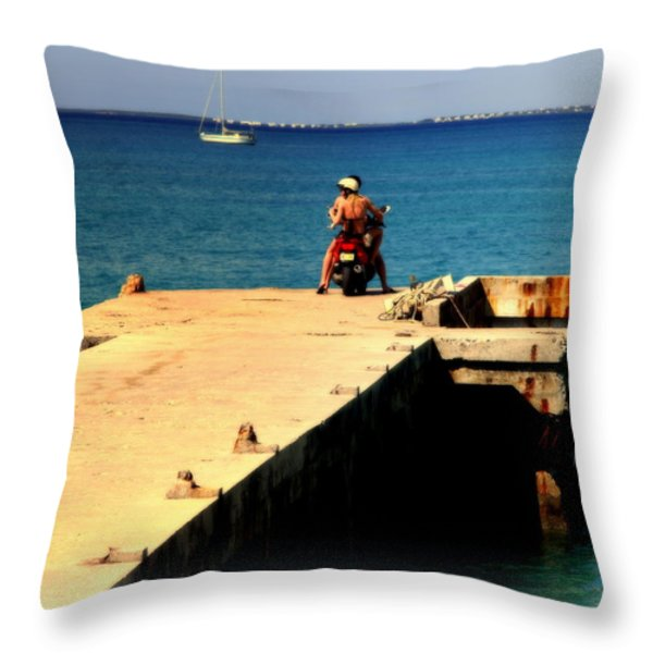 Some Day Soon Throw Pillow by Karen Wiles