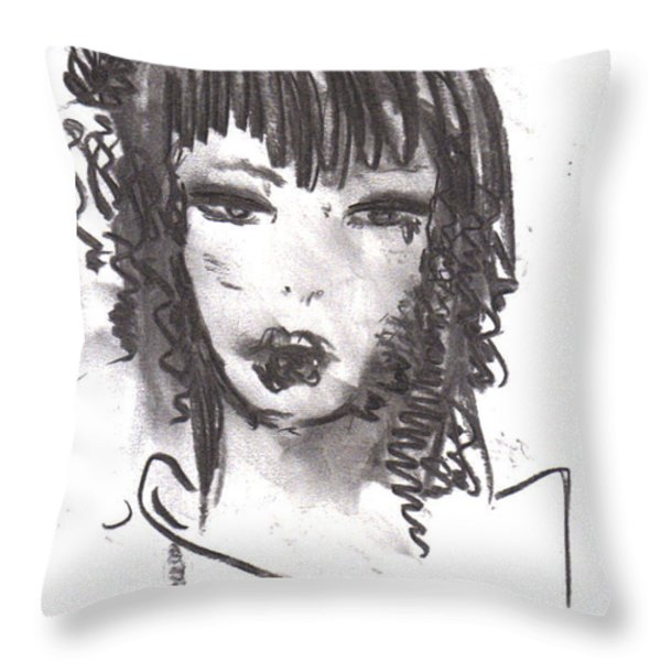 Someday In Paris Throw Pillow by Laurie D Lundquist