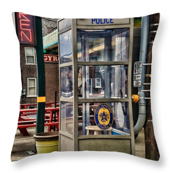 Someone Call The Police Throw Pillow by Paul Ward