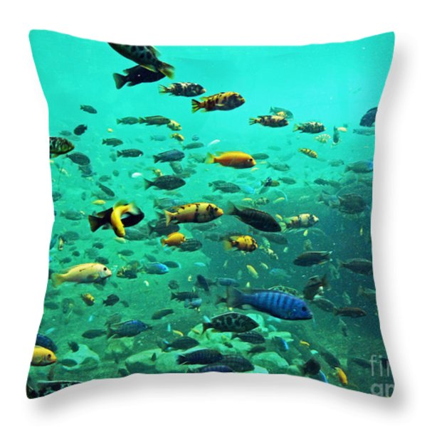 Something Fishy Throw Pillow by Kevin Fortier