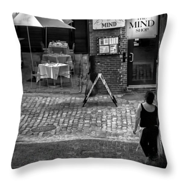 Something For Your Mind Throw Pillow by Bob Orsillo