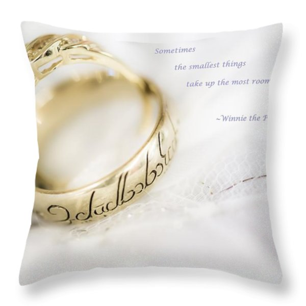 Sometimes the smallest things take up most room in your heart Throw Pillow by Eti Reid
