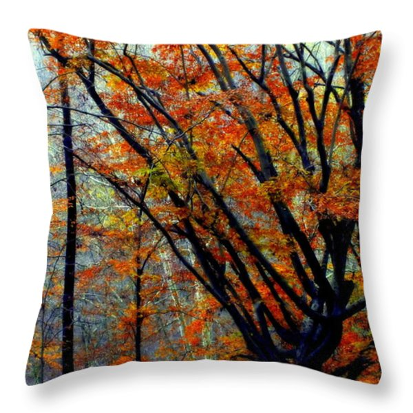 SONG of AUTUMN Throw Pillow by KAREN WILES